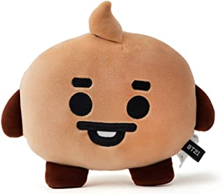 BT21 Official Merchandise by Line Friends - SHOOKY Character Baby Face Flat Cushion