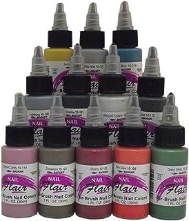 BADGER Nail Flair Fingernail Airbrush Paint 12 Color Set