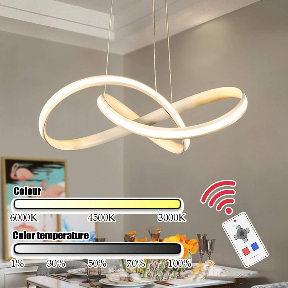 Venhoy Ceiling Recommended Light Clover Shape Chandelier Living Round LED Ro Spring new work one after another