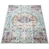 Paco Home In- & Outdoor Teppich Modern Orient Print Terrassen Teppich Türkis, Grösse:160x220 cm - 6