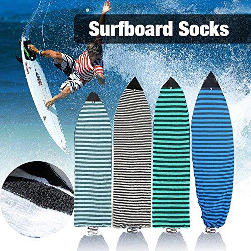 6 '0''''Surfboard Sock Cover 4 colores luz protección elástico calcetines bolsa para su tabla de surf punta nariz, Olive Green