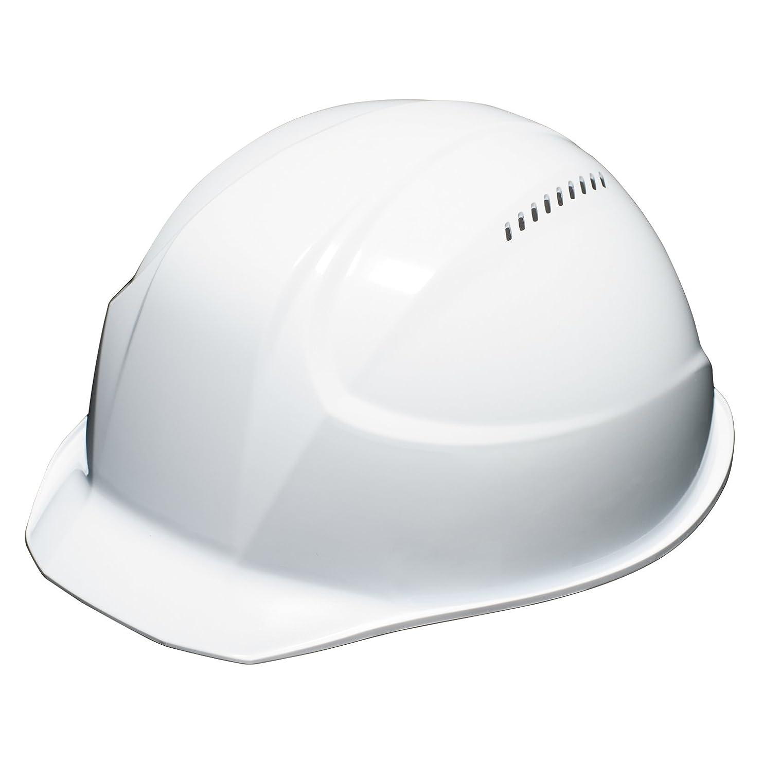 ピカリングよく話されるホーンDICプラスチック 超軽量ヘルメット 軽神/KEIJIN 通気孔付 白 AA17-V-HA5E-K17-WH