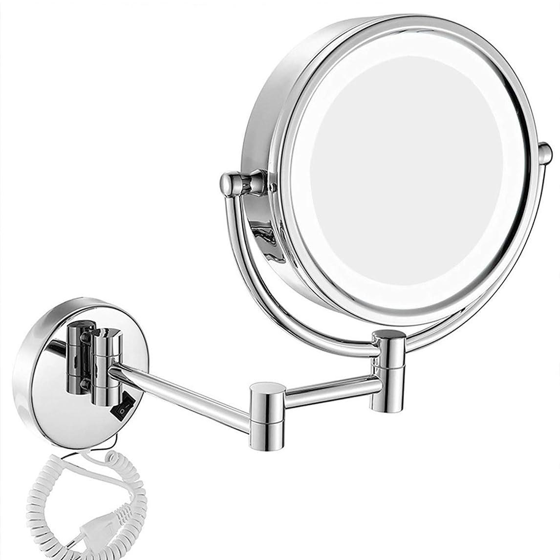 重要な役割を果たす、中心的な手段となる副産物ドラムShiSyan ミラー (:シルバー、サイズ:8インチ7Xカラー)壁掛け化粧鏡8インチ両面照明付き化粧鏡7XルーペLEDの品質バニティミラーグルーミングミラーのウォールマウント インテリア