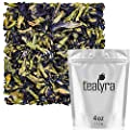 Tealyra - Blue Butterfly Pea Flower Tea - 100% Natural Dried Pure Whole Flower - Organically Grown in Thailand - 112g (4-ounce) by Tealyra