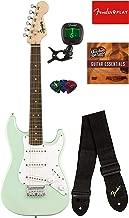 Fender Squier Mini Strat Electric Guitar - Surf Green Bundle with Tuner, Strap, Picks, Austin Bazaar Instructional DVD, and Polishing Cloth