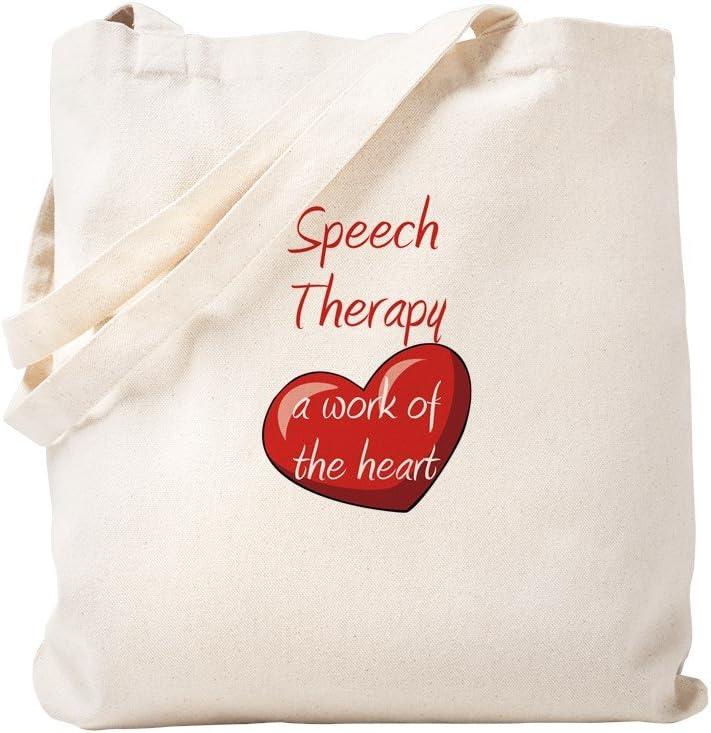 CafePress Speech Therapy Tote Bag Natural Canvas Tote Bag, Reusable Shopping Bag