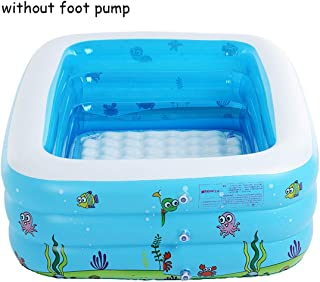 Baby Inflatable Swimming Pool for Summer Kids Game Pool Fencing for Children Portable Bathtub Baby Mini Playground 105x85x43cm,Without Pump