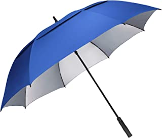 G4Free 54/62/68 inch Extra Large Windproof Golf Umbrella UV Protection Automatic Open Double Canopy Vented Sun Rain Umbrella Waterproof Oversize Stick Umbrellas for Men Women