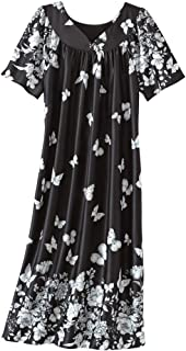 Lounger House Dress with Pockets for Women Muu Muu Nightgown
