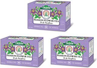 3 PACK Tadin Tea, Pasiflora - Passion Flower Tea, 72 Tea Bags - Relax Mind Muscle Pasiflora