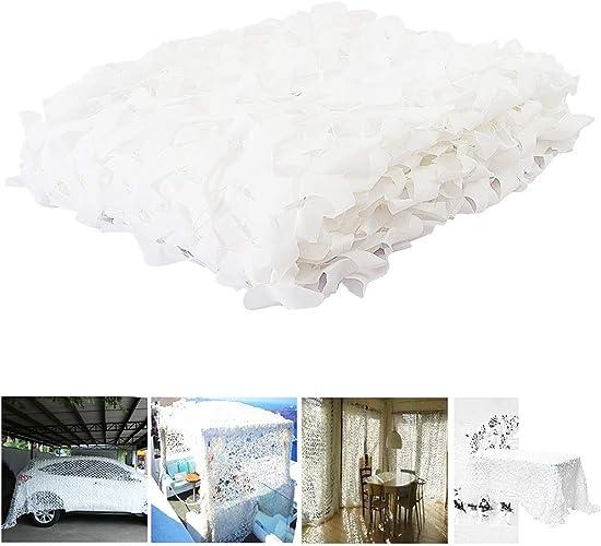 Filet de Camouflage Blanc Filet de Camouflage Renforcé Camo Filet Extérieur Neige Intérieur Camouflage Soleil Ombre Filet Auvents pour Patios écran Solaire Maille Jardin ( Taille   420M(13.165.6ft) )