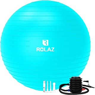 ROLAZ Exercise Ball Yoga Stability Ball Women Pregnancy Birthing Office Chair Ball for Fitness Workout Balance (55-75cm)