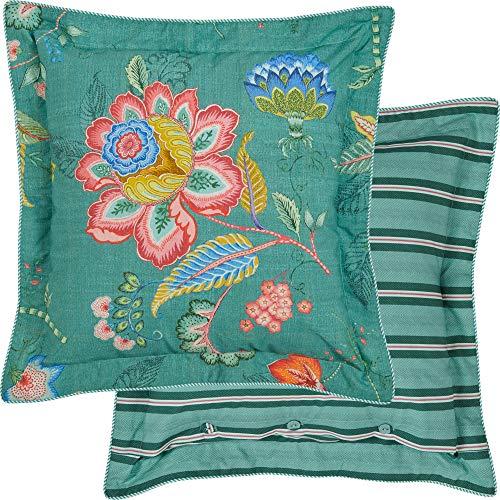 PIP Studio Kissen quadratisch Jambo Flower | grün - 45 x 45
