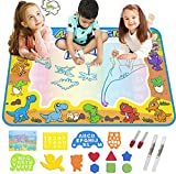 FREE TO FLY Kids ToysWater Doodle Mat:ToddlerAges Coloring Art Supplies - Dinosaur Learning Toy for Painting and Drawing - Educational Toysfor Girls Boys at 3 4 5 6 7 8 Year Old as Birthday