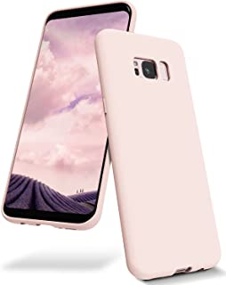 Goospery Liquid Silicone Case for Samsung Galaxy S8 Plus (2017) Jelly Rubber Bumper Case with Soft Microfiber Lining (Pink...