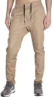 Men's Chino Jogger Pants Khaki Stretch Twill Slim Fit Sweatpants