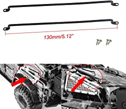 Simulation Car Railing Metal Handrail for 1:10 RC Rock Climning Car Killerbody Toyota LC70 TRX-4 Shell Pack of 2 (Style B -130mm)
