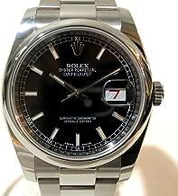 (ロレックス)ROLEX 116200 メンズ腕時計 赤/黒デイト バーインデックス デイトジャスト 腕時計 SS メンズ 中古