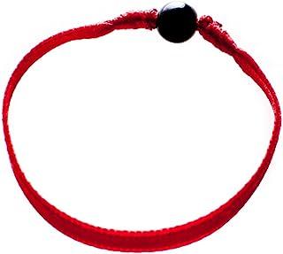 Bow, Pulsera Lazo Rojo con Azabache (5mm a 7mm) contra el