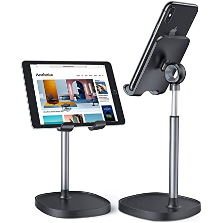 Cell Phone Stand, Angle Height Adjustable LISEN Phone Stand for Desk, Thick Case Friendly Phone Holder Stand, Taller iPhone Stand Compatible with All Mobile Phones,iPhone,Switch,iPad,Tablet(4-10in)