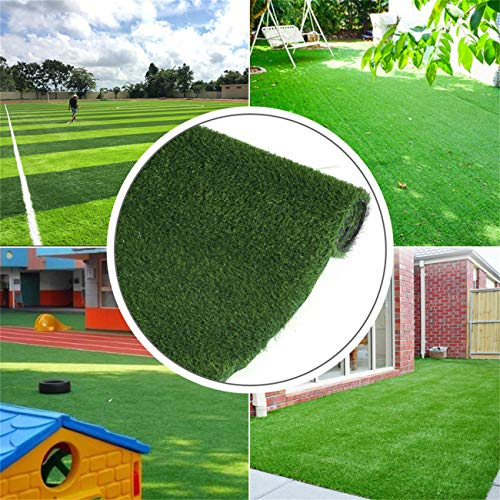 Artificial Grass Wall, Grasslife Premium Outdoor Thick Astroturf Rug Realistic Deluxe Synthetic Garden Turf Grass Soft Carpet Garden Lawn Landscape Fake Grass Mat, 6.5ft x 8ft (52 Square FT) 3 Tone