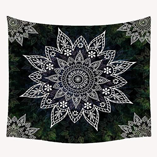 KHKJ Tapiz de Mandala para Colgar en la Pared, Alfombra Bohemia para Pared, para el hogar, decoración del Dormitorio, Tela de Pared, Alfombra Boho de Mandala, A4 200x180cm