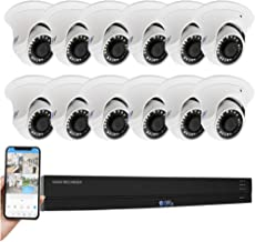 GW 16 Channel 4K H.265+ CCTV System Surveillance DVR Kits with (12) x HD 8MP 2160P Outdoor/Indoor 4K Dome Security Cameras, 100ft Night Vision, 4TB Hard Drive Pre-Installed