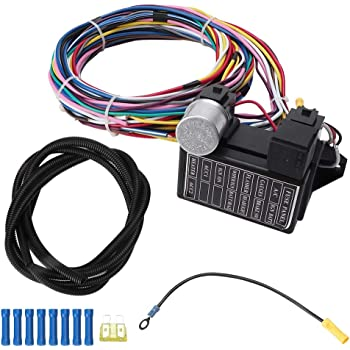 amazon.com: 12 circuit universal wiring harness wire harness adapter car  hot rod wires vehile accessory: automotive  amazon.com