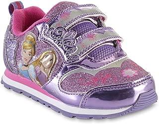 Disney Toddler Girls Princess Pink and Purple Light-Up Sneakers