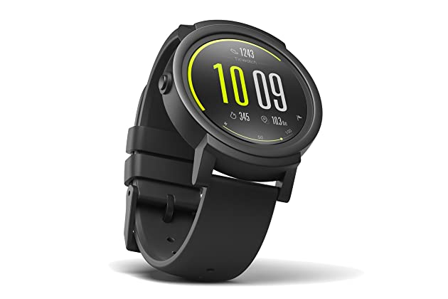 c189f7c4a TicWatch E Bluetooth Smart Watch, Google Assistant, Wear OS by Google  Smartwatch,Compatible with iPhone and Android (Shadow)