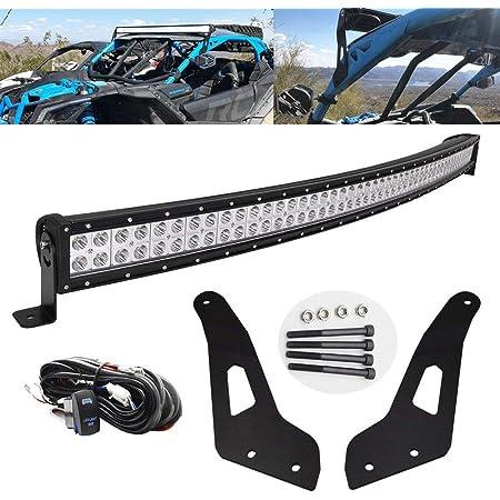 SKYWORLD Side Mount Bracket Big Single Row LED Light Bar Adjustable High /& Low Mounting Bracket Working Light for Off Road ATV AWD SUV