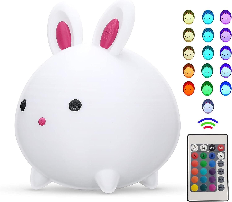 INCSYDINA Cute It is very popular Bunny Kids Night USB and Light, Rechar Wireless Low price