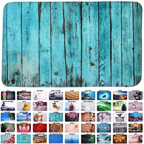 Sanilo Badteppich I viele schöne Badematten zur Auswahl I Badvorleger sehr weich & rutschfest I waschbar & schnelltrocknend (50 x 80 cm, Lumber)