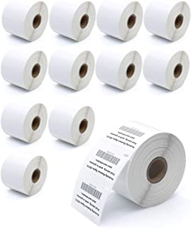 "KingTac 12 Rolls - Compatible Dymo 30334 Permanent Adhesive Shipping Labels, 2-1/4"" x 1-1/4"" Address Labels, Barcode/FNSKU/UPC/FBA Thermal Labels (1000 Labels/Roll)"