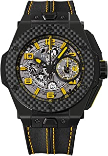 Hublot Big Bang 401.CQ.0129.VR Ferrari Leather Skeleton Yellow Limited Edition of 1000 Carbon Fiber