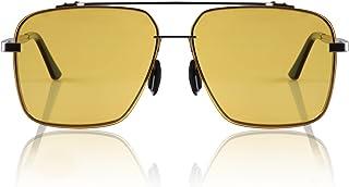 IPOW - Gafas de Sol Polarizado Gafas de Sol Retro Vintage para Hombre con Efecto Espejo, Protección Solar UV 400