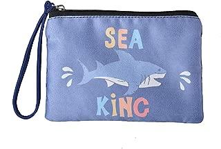 Cute Canvas Cash Coin Purse, Make up Bag, Cellphone Bag with Handle (BG0029 Shark)