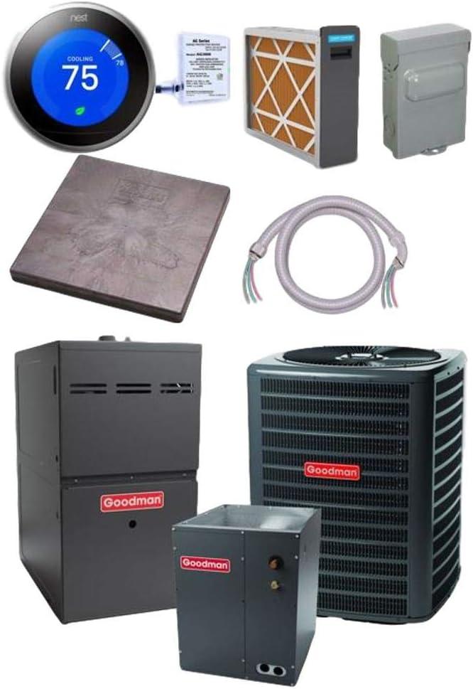 Sacramento Mall Goodman 3 TON 15 SEER Mail order cheap Conditioner CAPF4860 GSX160371 bundle Air