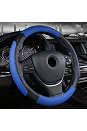 38 cm Color : 36cmBlack Line 40 cm for VW Skoda Chevrolet Ford Nissan etc. SR-SH Material de Gamuza Cubierta del Volante del autom/óvil Tama/ño 36 cm
