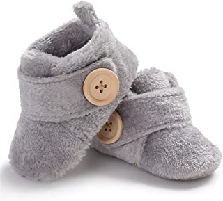 Baby Newborn Crib Cozy Fleece Winter Booties Non Skid Soft Sole Shoes Warm Winter Socks