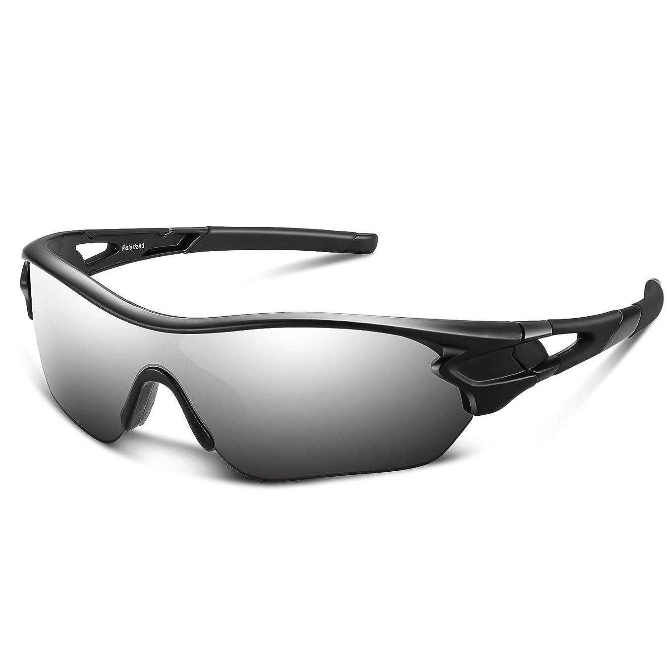 宿る申込み舌スポーツサングラス 偏光レンズ 自転車 登山 釣り 野球 ゴルフ ランニング ドライブ バイク テニス スキー 超軽量 UV400 TAC TR90 紫外線防止 メンズ レディース ユニセックス サングラス 安全 清晰
