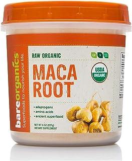 BareOrganics Maca Root Powder   Organic, Vegan, Non-GMO, Gluten-Free   Energy & Stamina Support, 8oz