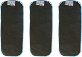 EcoAble 5 Layer Charcoal Bamboo Inserts Reusable Liners for Baby Cloth Diapers (3 Pack)