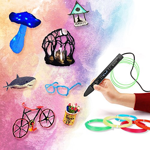 3D Stift Filament 24 Farben 3M PLA Filament 1.75mm 3d stifte farben für 3D Stift, kompatibel mit ODRVM, Tipeye, Uvistare, Lovebay, PLUSINNO, QPAU, Canbor, Juboury, Nexgadget und dikale 3d Pen 3D Druckstift von MKOEM - 6