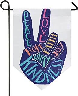 Aflyko Peace Sign Garden Flag Evergreen Flag Double Sided Decorative Outdoor Banner for Home Lawn Party, 12x18.5 Inch
