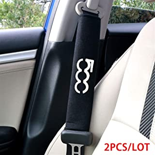 2pcs Auto Posto a Sedere Cintura Protezione Copertine per Fiat 500x Auto Sicurezza Spalla Cinghia Protezione tampone Cuscino Copertina Pads
