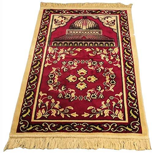 Tapis de priere musulman, tapis musulmans tapis de prière de grande taille tapis de prière épais doux tapis de prière imitation cachemire, parfait pour la prière dans l