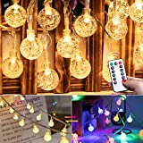 33 Feet 100 Led Mini Globe String Lights, Color Changing Fairy String Lights Plug in, 8 Modes with Remote, Waterproof Decor for Indoor Outdoor Party Wedding Garden