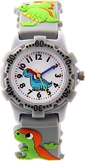 Jian Ya Na Cute 3D Cartoon Digital Silicone Wristwatches Time Teacher Birthday Gifts for Aged 3-8 Girls Boys