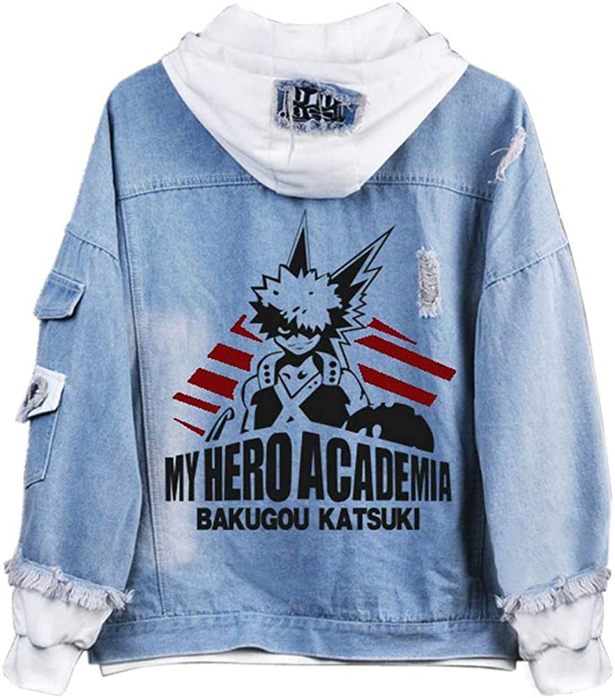 Adults No Hero Boku Free shipping / New Denim Hoodie Costume Some reservation Cosplay Jacket My